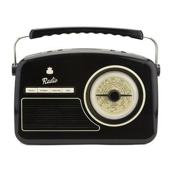 Radio retro GPO Rydell Nostalgic Dab Radio Black, negru poza bonami.ro