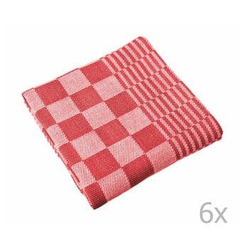 Set 6 prosoape Tiseco Home Studio Mineur, 65 x 65 cm, roșu bonami.ro
