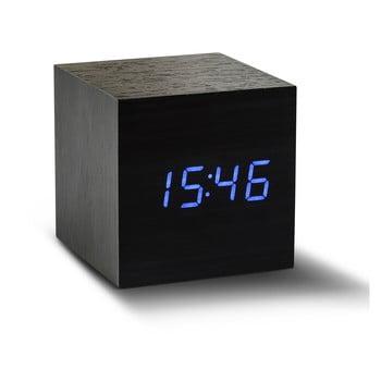 Ceas deșteptător cu LED Gingko Cube Click Clock, negru - albastru bonami.ro