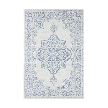 Covor de exterior Bougari Tilos, 160 x 230 cm, albastru - crem imagine