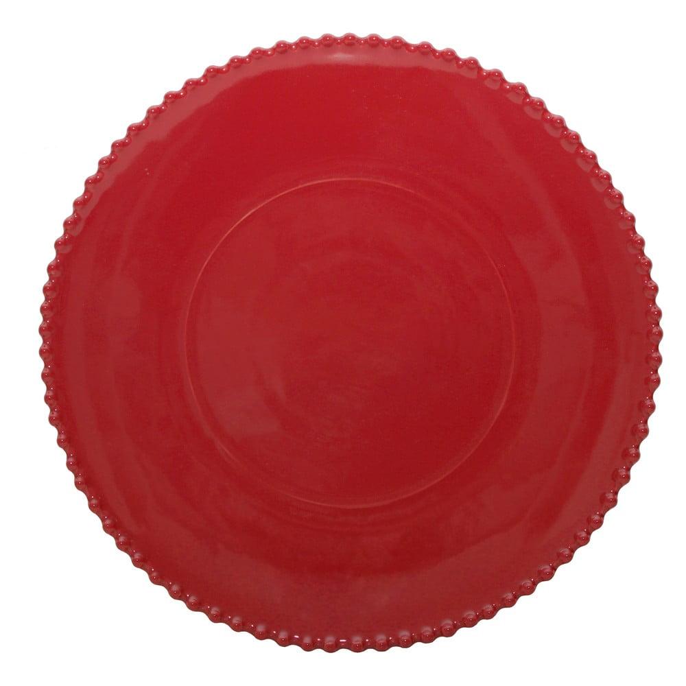 Farfurie din gresie Costa Nova, ø 34,3 cm, rosu rubin