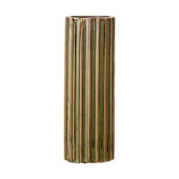 Vază din gresie ceramică Bloomingville Stripes, înălțime 15 cm, verde bonami.ro