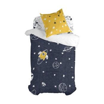 Lenjerie de pat din bumbac pentru copii, pentru pat de o persoană Mr. Fox Starspace,140x200cm bonami.ro