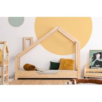 Pat din lemn de pin în formă de căsuță Adeko Luna Bek, 80 x 190 cm