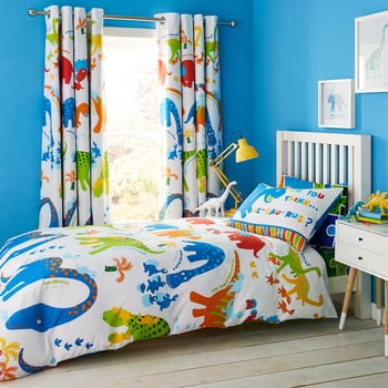Lenjerie de pat pentru copii Catherine Lansfield Dino, 135 x 200 cm poza bonami.ro