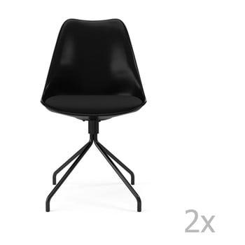 Set 2 scaune dining Tenzo Gina Star, negru poza bonami.ro