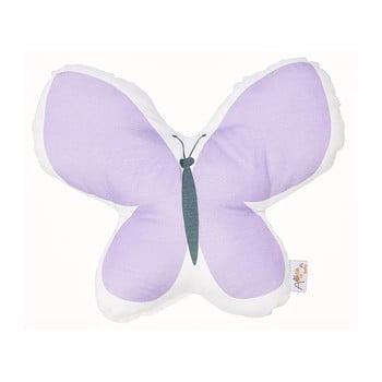 Pernă din amestec de bumbac pentru copii Mike&Co.NEWYORK Pillow Toy Butterfly, 26 x 30 cm, mov bonami.ro
