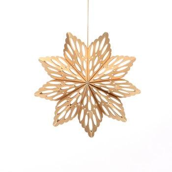 Decorațiune din hârtie pentru Crăciun, formă fulg Only Natural, lungime 15 cm, auriu bonami.ro