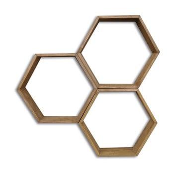 Set 3 rafturi din lemn de perete Evila Originals Bee bonami.ro