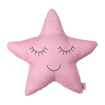 Pernă cu amestec din bumbac pentru copii Mike&Co.NEWYORK Pillow Toy Star, 35 x 35 cm, roz bonami.ro