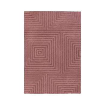 Covor din lână Flair Rugs Estela, 120 x 170 cm, violet imagine