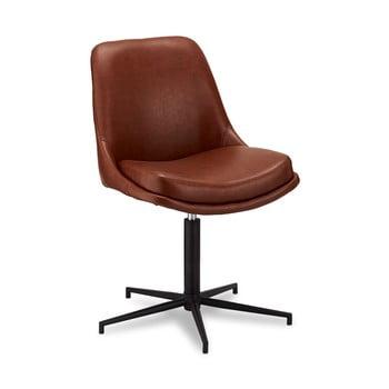 Scaun rotativ de birou cu husă din imitație de piele Furnhouse Claudia imagine