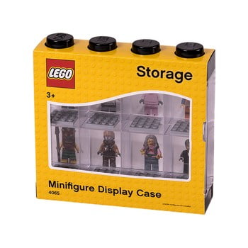 Cutie pentru 8 minifigurine LEGO®, alb - negru poza bonami.ro