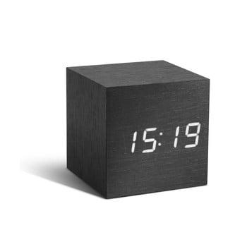 Ceas deșteptător cu LED Gingko Cube Click Clock, negru - alb bonami.ro