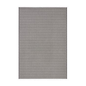 Covor adecvat interior/exterior Bougari Meadow, 200 x 290 cm, alb-negru poza bonami.ro