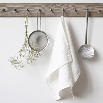 Prosop de bucătărie din in Linen Tales, 65x45cm, alb bonami.ro