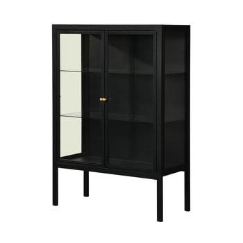 Vitrină cu două uși Støraa Alva, înălțime 140 cm, negru imagine