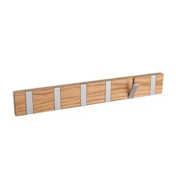 Cuier din lemn de stejar cu 6 agățători pliabile Rowico Confetti, natural bonami.ro