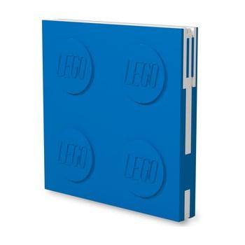 Jurnal pătrat cu pix cu gel LEGO®, 15,9 x 15,9 cm, albastru bonami.ro