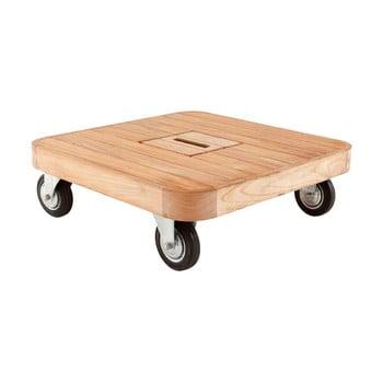 Masa joasa de gradina din lemn de tec cu roti Ezeis Resort