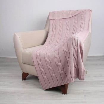 Cuvertură din bumbac Couture, 130 x 170 cm, roz poza bonami.ro
