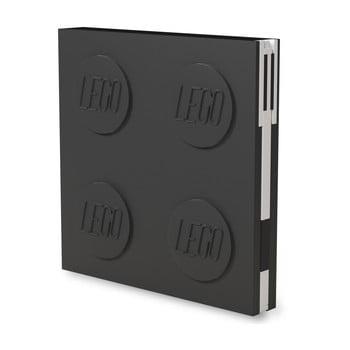 Jurnal pătrat cu pix cu gel LEGO®, 15,9 x 15,9 cm, negru bonami.ro