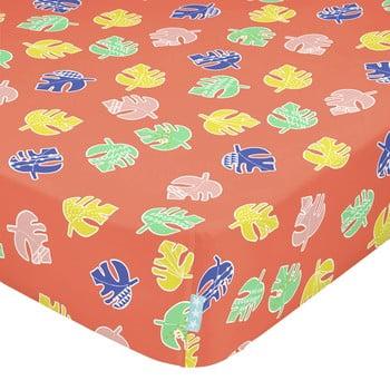 Cearșaf din bumbac pentru copii Moshi Moshi Geo Jungle,60x120cm bonami.ro