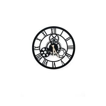 Ceas de perete Davin Clock, ⌀ 48 cm, negru bonami.ro