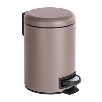 Coș de gunoi cu pedală Wenko Leman, 3 l, maro - bej poza bonami.ro