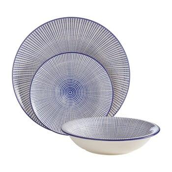 Set 12 farfurii din gresie ceramica Premier Housewares Maya