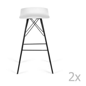 Set 2 scaune de bar Tenzo Tori, alb imagine