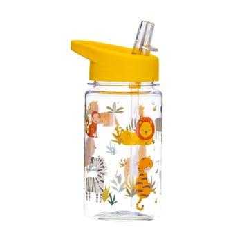 Sticlă apă cu pai pentru copii Sass & Belle Drink Up Safari,400ml poza bonami.ro