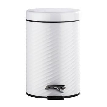 Coș de gunoi cu pedală Wenko Spiro, 3 l, alb poza bonami.ro