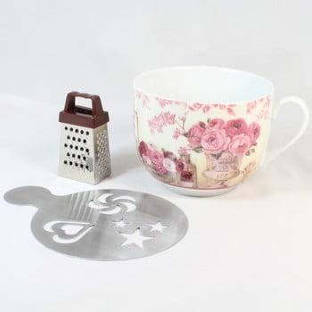Cană din ceramică cu răzătoare și suport Dakls Pinky, 420ml bonami.ro