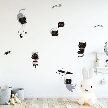 Set autocolante pentru perete Ambiance Scandinavian Animals Cosmonaut Cats bonami.ro
