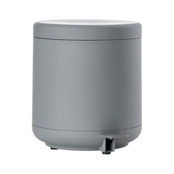Cos de gunoi cu pedala pentru baie Zone UME, 4 l, gri