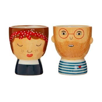 Set 2 suporturi din ceramică pentru ou Sass & Belle My Kind of People Libby poza bonami.ro