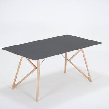 Masă din lemn masiv de stejar cu blat negru Gazzda Tink, 160 x 90 cm imagine