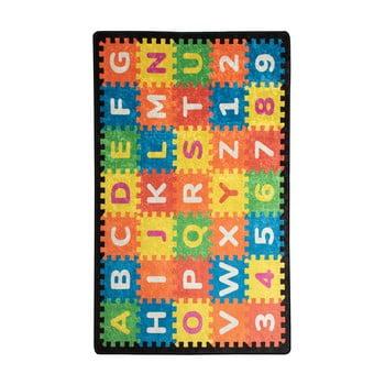 Covor copii Puzzle, 140 x 190 cm poza bonami.ro