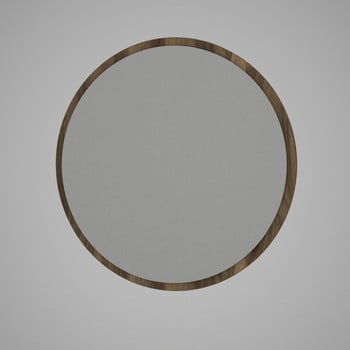 Oglindă rotundă de perete cu rama maro Glob, ⌀ 59 cm imagine