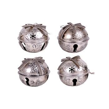 Set 4 decorațiuni de agățat - clopoței Ego Dekor, argintiu poza bonami.ro