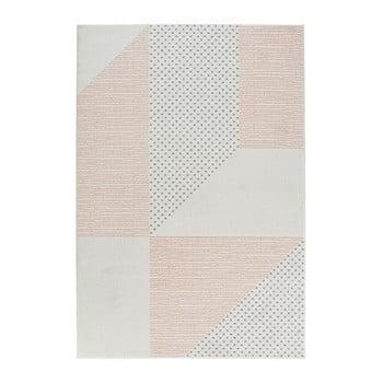 Covor Mint Rugs Madison, 160 x 230 cm, crem - roz imagine