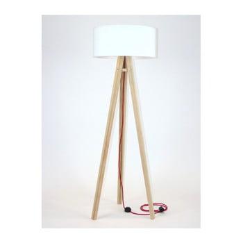 Lampadar cu abajur alb și cablu roșu Ragaba Wanda imagine