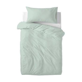 Lenjerie de pat din bumbac pentru copii Happy Friday Basic, 100x120cm, verde deschis poza bonami.ro