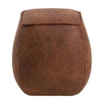 Puf cu husă din piele sintetică Actona Mie, 40 x 40 cm, maro coniac bonami.ro
