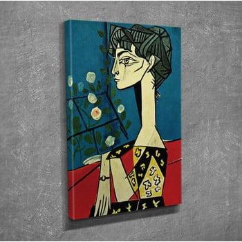 Reproducere tablou pe pânză Pablo Picasso Jacqueline with Flowers, 30 x 40 cm bonami.ro