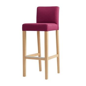 Scaun bar cu picioare de culoare naturală, Custom Form Wilton, roz imagine