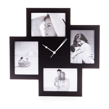 Ceas de perete cu rame foto Tomasucci Collage, negru bonami.ro