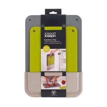 St 2 tocătoare din plastic cu suport de perete Joseph Joseph DoorStore poza bonami.ro