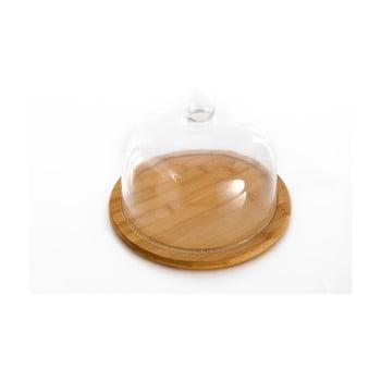 Platou din bambus și capac din sticlă Bambum Focus bonami.ro
